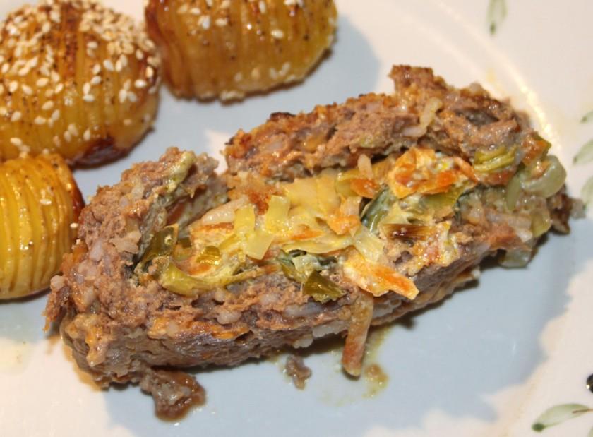 Farsbrød med lækkert grøntsagsfyld - en genudgivelse med nye billeder