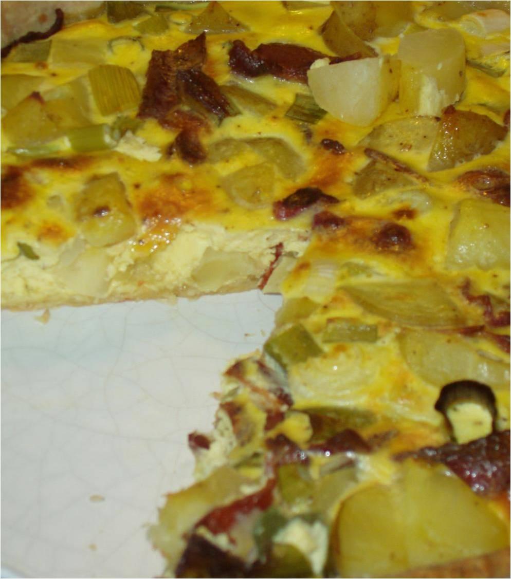 tærte med kartofler