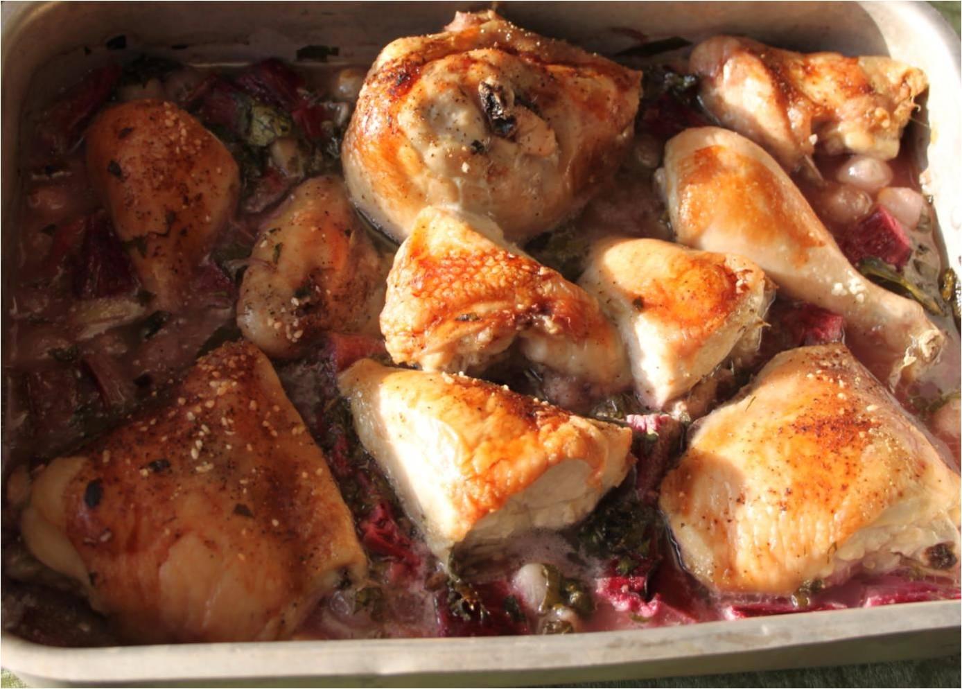 Kylling med rabarber – og nye, danske kartofler – Dalsgaard i Skivholme
