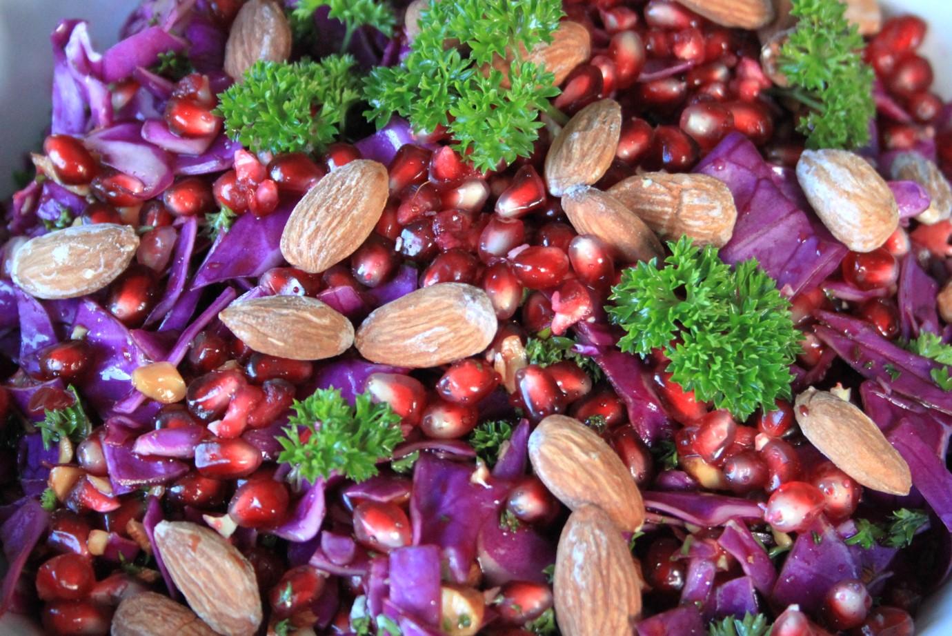 salat rød spidskål